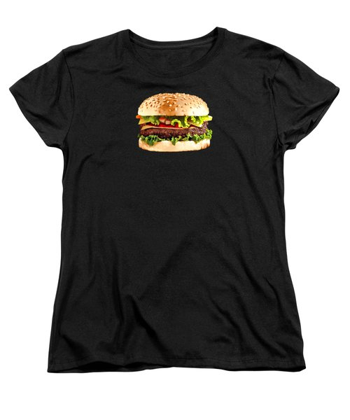 Burger Sndwich Hamburger Women's T-Shirt (Standard Cut) by T Shirts R Us -