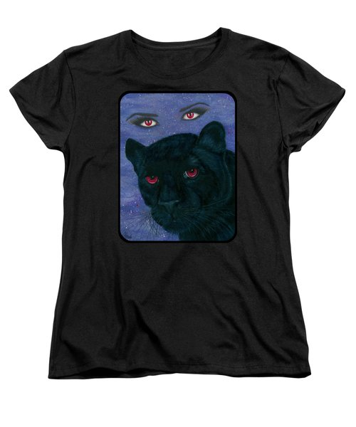 Carmilla - Black Panther Vampire Women's T-Shirt (Standard Cut) by Carrie Hawks