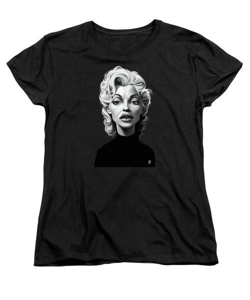 Celebrity Sunday - Marilyn Monroe Women's T-Shirt (Standard Cut) by Rob Snow