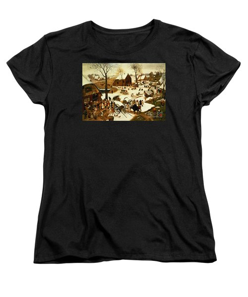 Census At Bethlehem Women's T-Shirt (Standard Cut) by Pieter the Elder Bruegel
