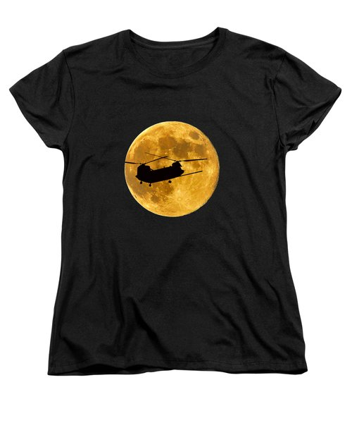 Chinook Moon Color .png Women's T-Shirt (Standard Cut) by Al Powell Photography USA