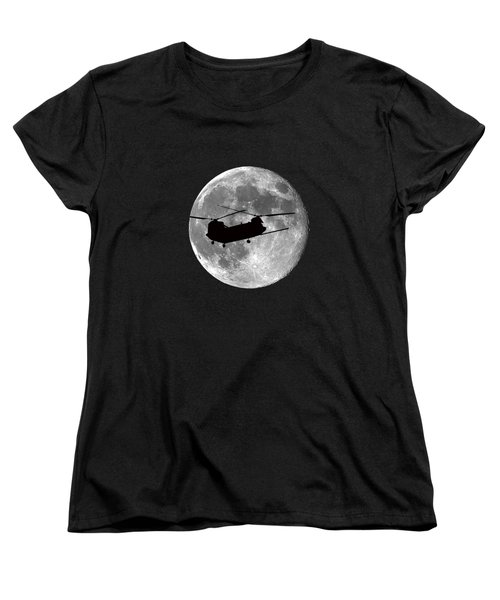 Chinook Moon .png Women's T-Shirt (Standard Cut) by Al Powell Photography USA