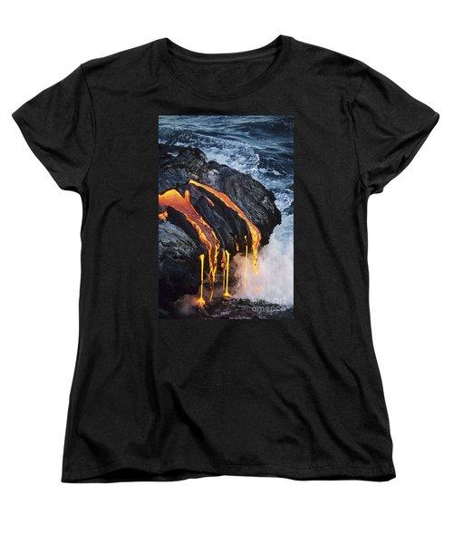 Close-up Lava Women's T-Shirt (Standard Cut) by Don King - Printscapes
