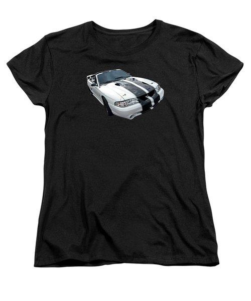 Cobra Mustang Convertible Women's T-Shirt (Standard Cut) by Gill Billington