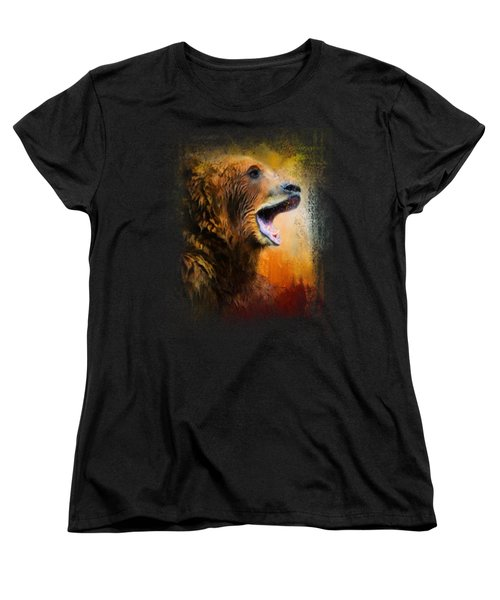 Colorful Expressions Grizzly Bear 2 Women's T-Shirt (Standard Cut) by Jai Johnson