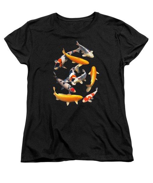 Colorful Japanese Koi Vertical Women's T-Shirt (Standard Cut) by Gill Billington
