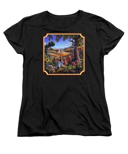 Coon Gap Holler Country Landscape - Square Format Women's T-Shirt (Standard Cut) by Walt Curlee