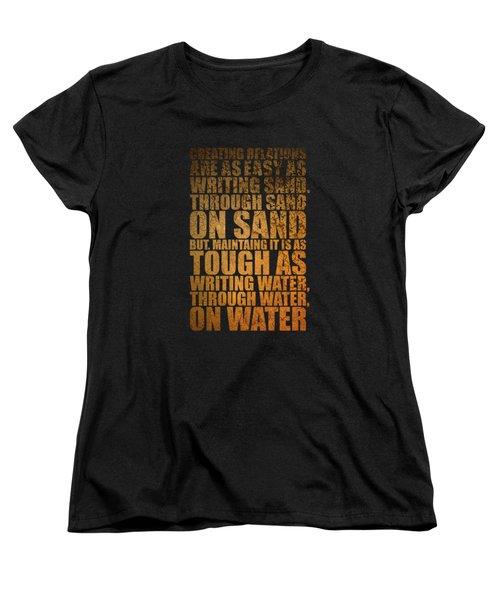 Creating Relations Women's T-Shirt (Standard Cut) by Maria Christi