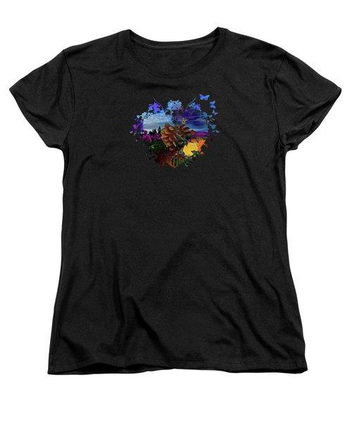 Dahlia Field Women's T-Shirt (Standard Cut) by Thom Zehrfeld