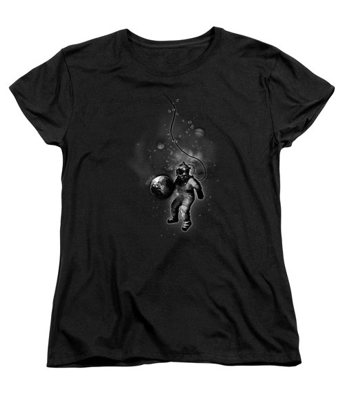 Deep Sea Space Diver Women's T-Shirt (Standard Cut) by Nicklas Gustafsson