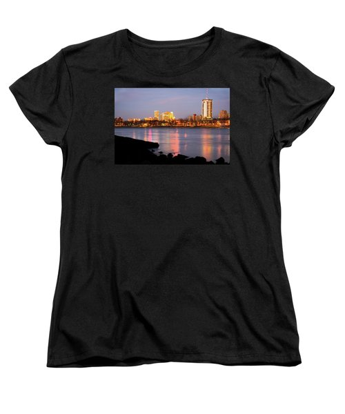 Downtown Tulsa Oklahoma - University Tower View Women's T-Shirt (Standard Cut) by Gregory Ballos
