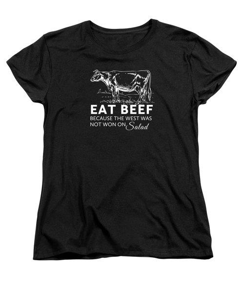 Eat Beef Women's T-Shirt (Standard Cut) by Nancy Ingersoll