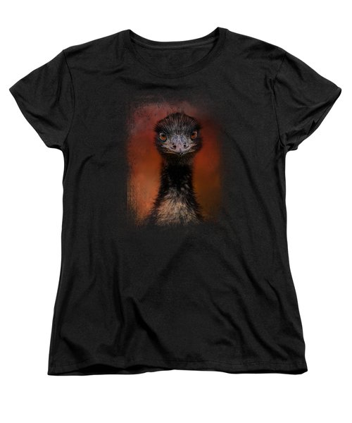 Emu Stare Women's T-Shirt (Standard Cut) by Jai Johnson