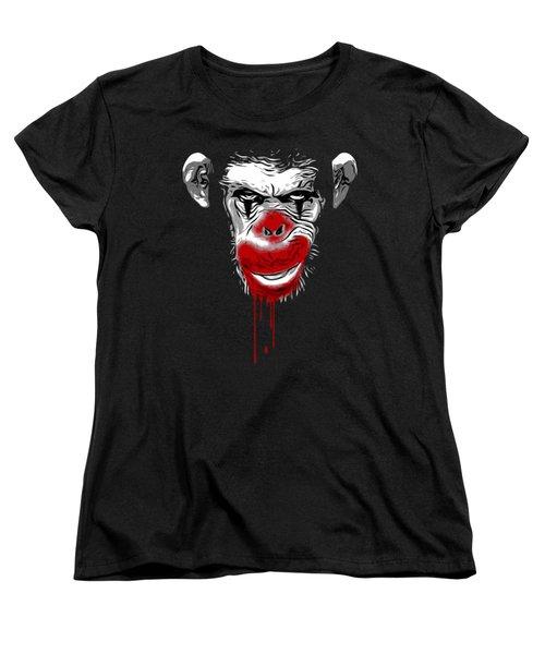 Evil Monkey Clown Women's T-Shirt (Standard Cut) by Nicklas Gustafsson