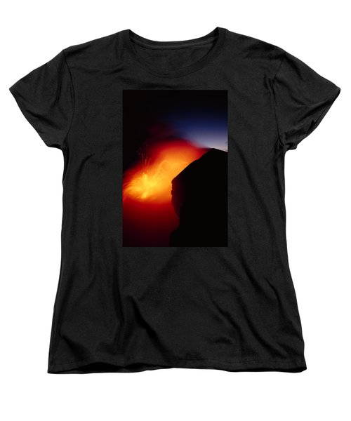 Explosion At Twilight Women's T-Shirt (Standard Cut) by William Waterfall - Printscapes