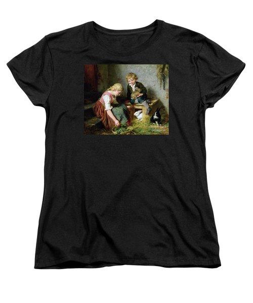 Feeding The Rabbits Women's T-Shirt (Standard Cut) by Felix Schlesinger