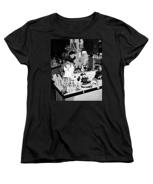 First Lady Eleanor Roosevelt And Santa Women's T-Shirt (Standard Cut) by Science Source
