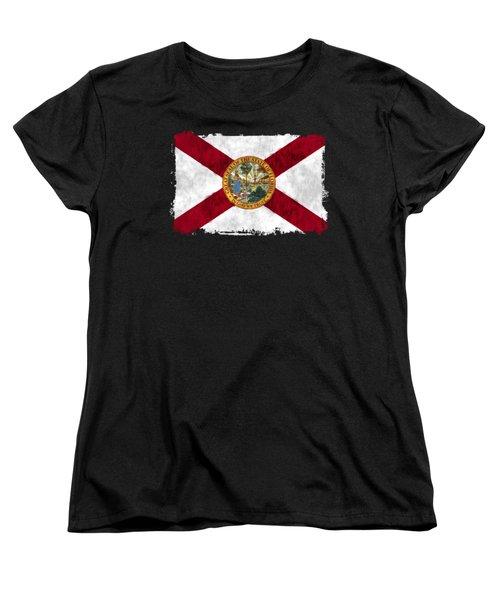 Florida Flag Women's T-Shirt (Standard Cut) by World Art Prints And Designs