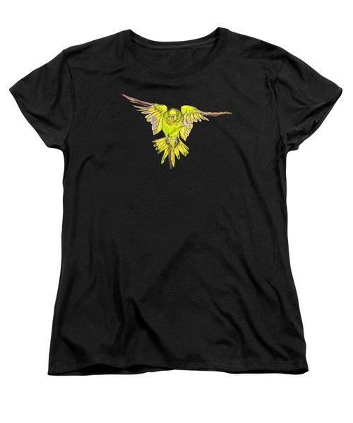 Flying Budgie Women's T-Shirt (Standard Cut) by Lorraine Kelly