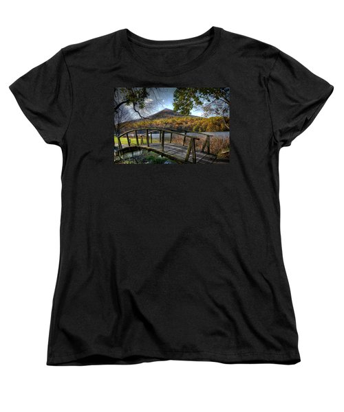 Foot Bridge Women's T-Shirt (Standard Cut) by Todd Hostetter