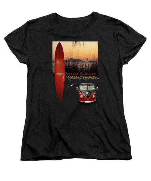 Forever Summer 1 Women's T-Shirt (Standard Cut) by Linda Lees