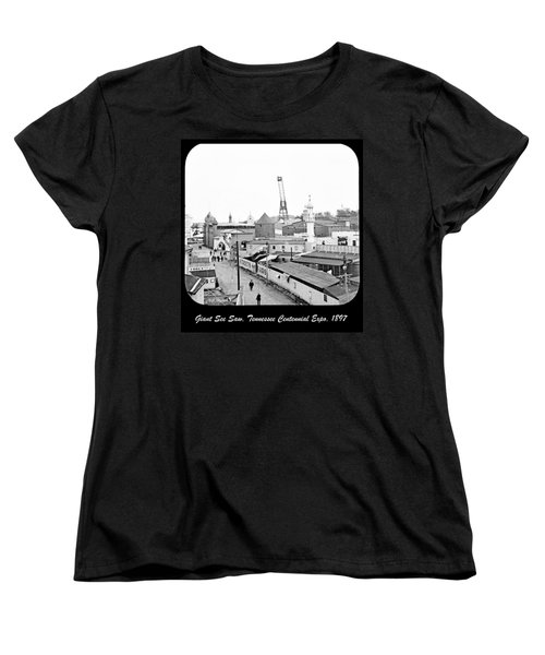 Women's T-Shirt (Standard Cut) featuring the photograph Giant See Saw Tennessee Centennial Exposition 1897 by A Gurmankin