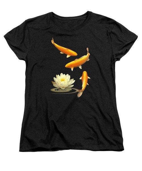 Golden Harmony Vertical Women's T-Shirt (Standard Cut) by Gill Billington
