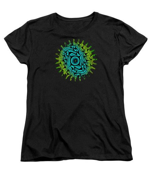 Green Dragon Eye Women's T-Shirt (Standard Cut) by Anastasiya Malakhova