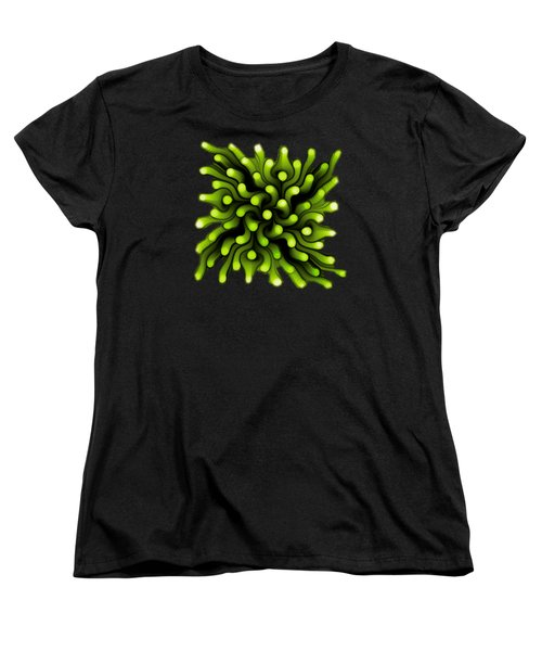 Green Sea Anemone Women's T-Shirt (Standard Cut) by Anastasiya Malakhova