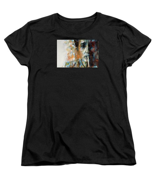 Hey Mr Tambourine Man @ Full Composition Women's T-Shirt (Standard Cut) by Paul Lovering