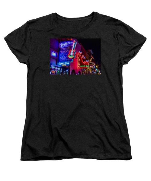 Honky Tonk Broadway Women's T-Shirt (Standard Cut) by Stephen Stookey