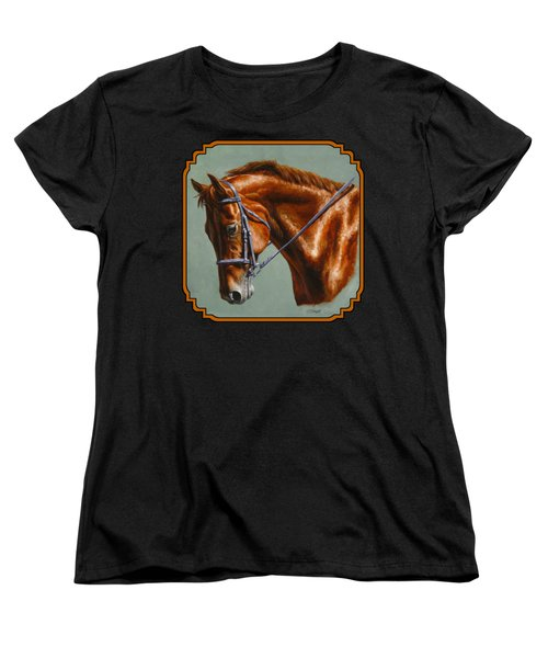 Horse Painting - Focus Women's T-Shirt (Standard Cut) by Crista Forest