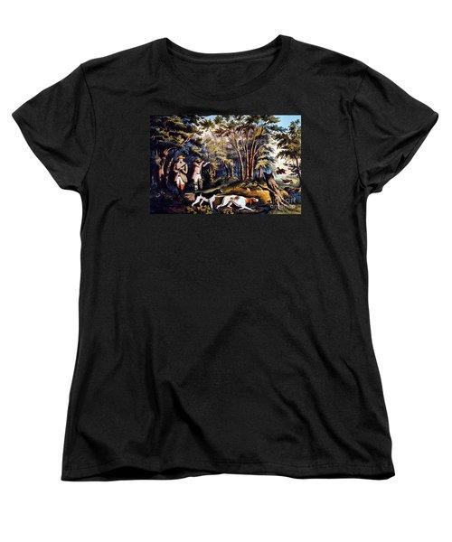 Hunting: Woodcock, 1852 Women's T-Shirt (Standard Cut) by Granger