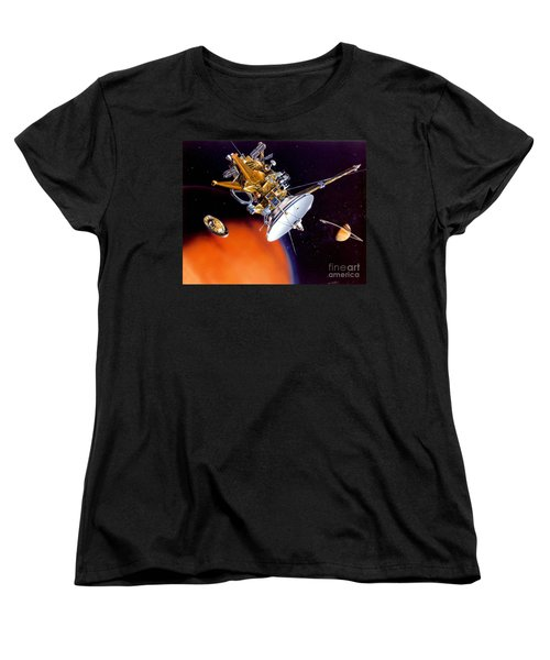 Huygens Probe Separating Women's T-Shirt (Standard Cut) by NASA and Photo Researchers