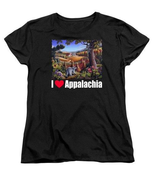 I Love Appalachia T Shirt - Coon Gap Holler 2 - Country Farm Landscape Women's T-Shirt (Standard Cut) by Walt Curlee