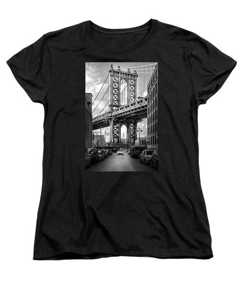 Iconic Manhattan Bw Women's T-Shirt (Standard Cut) by Az Jackson