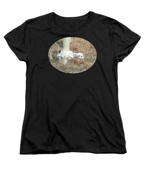 L Is For Lamb Women's T-Shirt (Standard Cut) by Anita Faye