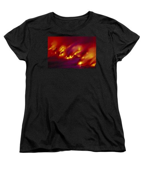 Lava Up Close Women's T-Shirt (Standard Cut) by Ron Dahlquist - Printscapes