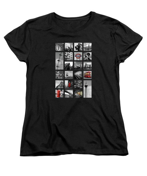 London Squares Women's T-Shirt (Standard Cut) by Mark Rogan