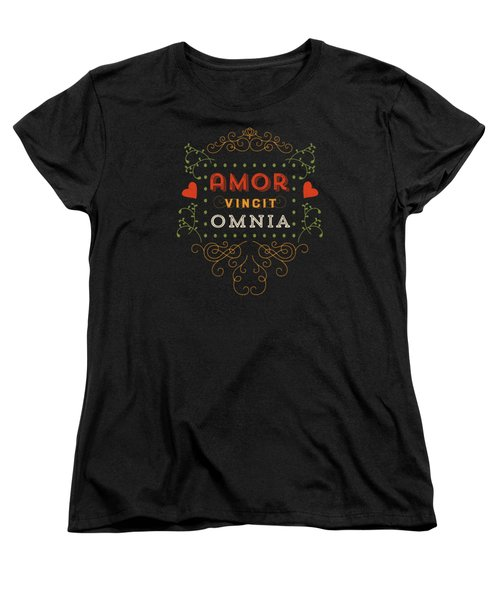 Love Conquers All Women's T-Shirt (Standard Cut) by Antique Images