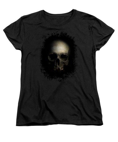 Male Skull Women's T-Shirt (Standard Cut) by Jaroslaw Blaminsky