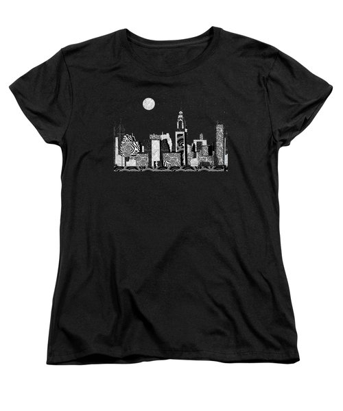 Manhattan At Night New York Swings Women's T-Shirt (Standard Cut) by Cecely Bloom