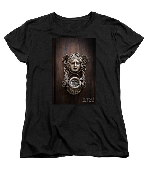 Medusa Head Door Knocker Women's T-Shirt (Standard Cut) by Edward Fielding