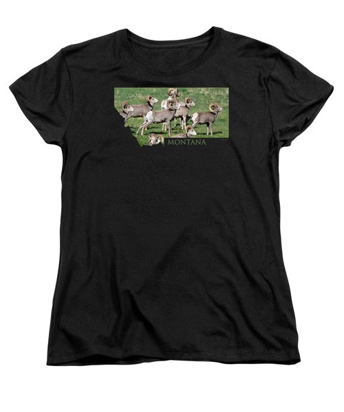 Montana -bighorn Rams Women's T-Shirt (Standard Cut) by Whispering Peaks Photography