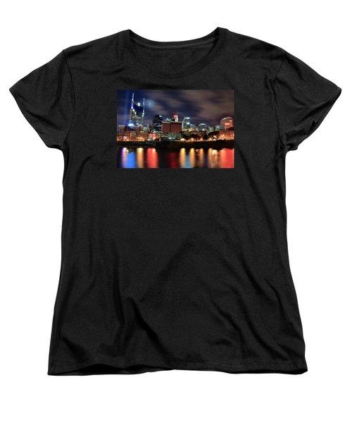 Nashville Skyline Women's T-Shirt (Standard Cut) by Frozen in Time Fine Art Photography