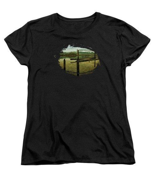 Nehalem Bay Reflections Women's T-Shirt (Standard Cut) by Thom Zehrfeld