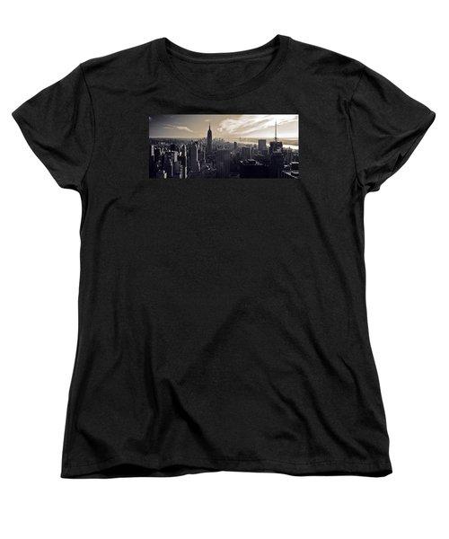 New York Women's T-Shirt (Standard Cut) by Dave Bowman