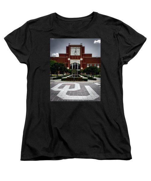 Oklahoma Memorial Stadium Women's T-Shirt (Standard Cut) by Center For Teaching Excellence