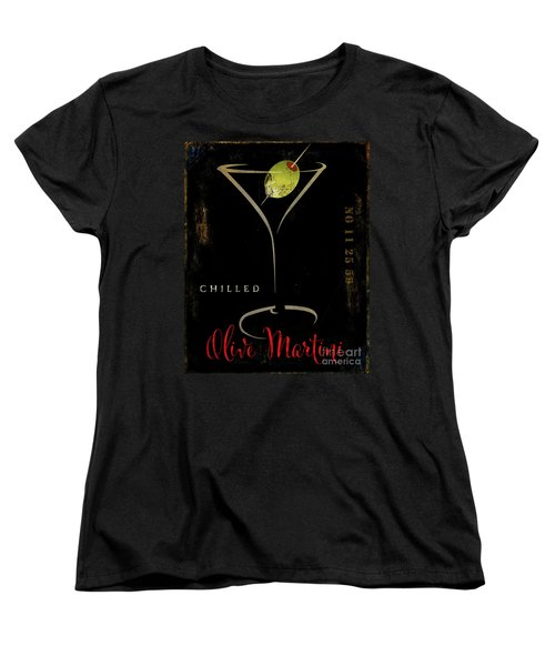 Olive Martini Women's T-Shirt (Standard Cut) by Mindy Sommers