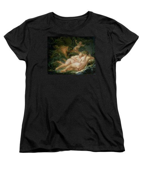 Pan And Syrinx Women's T-Shirt (Standard Cut) by Francois Boucher